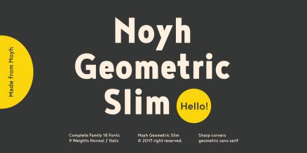 Noyh Geometric Slim Poster