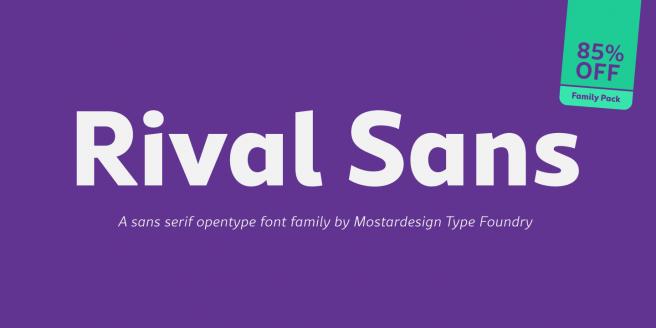 Rival Sans Poster