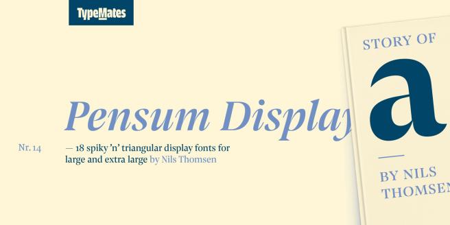 Pensum Display Poster