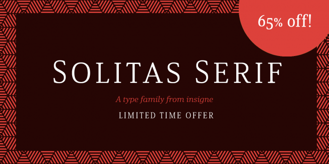 Solitas Serif Poster