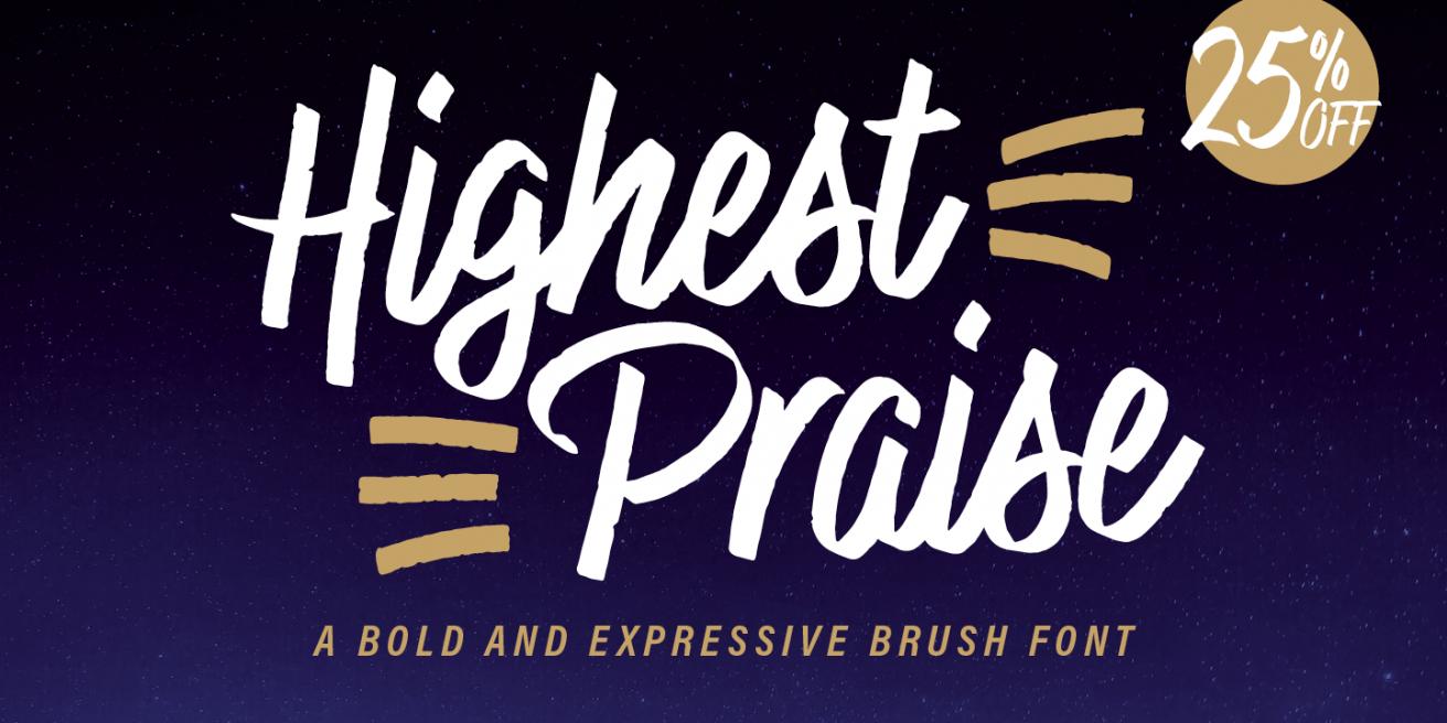 Highest Praise Poster
