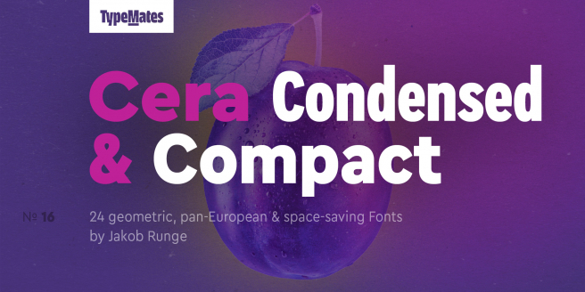 Cera Condensed & Compact Poster
