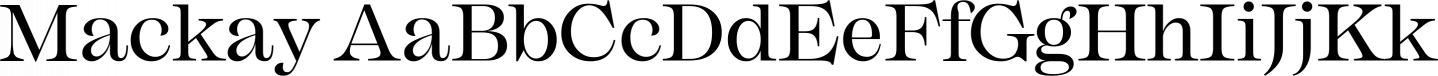 Mackay Sample Text