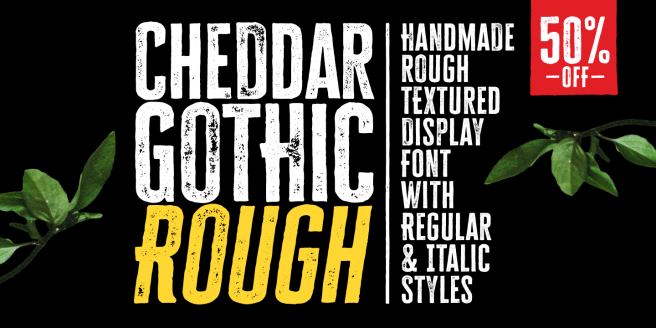 Cheddar Gothic Rough Poster