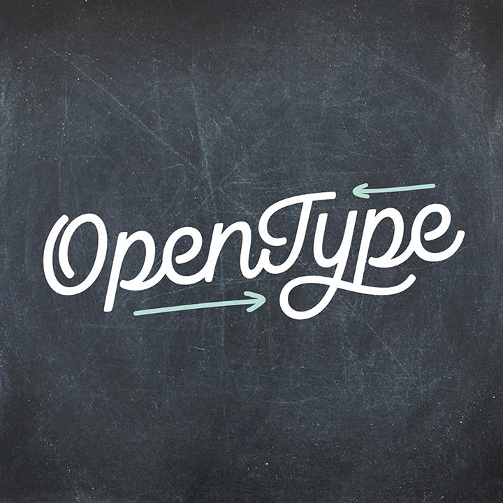 Feng shui and OpenType
