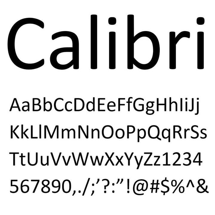 Calibri saves the day ... again