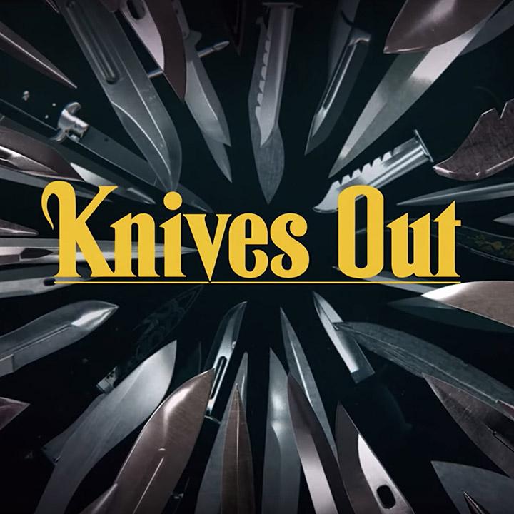 <i>Knives Out</i> title font