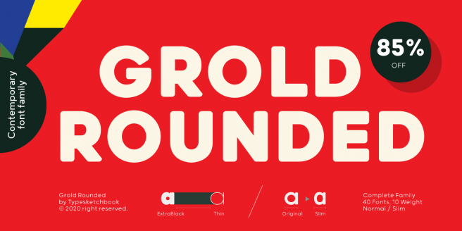 Grold Rounded Poster
