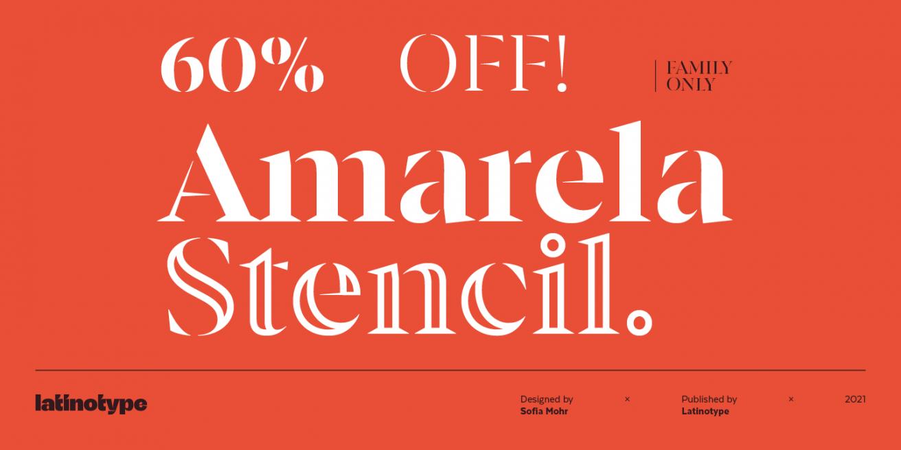 Amarela Stencil Poster