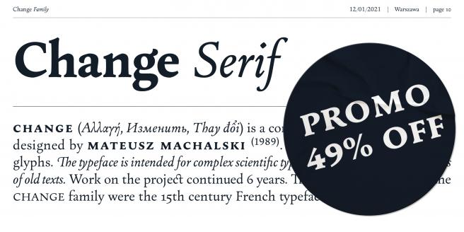 Change Serif Poster