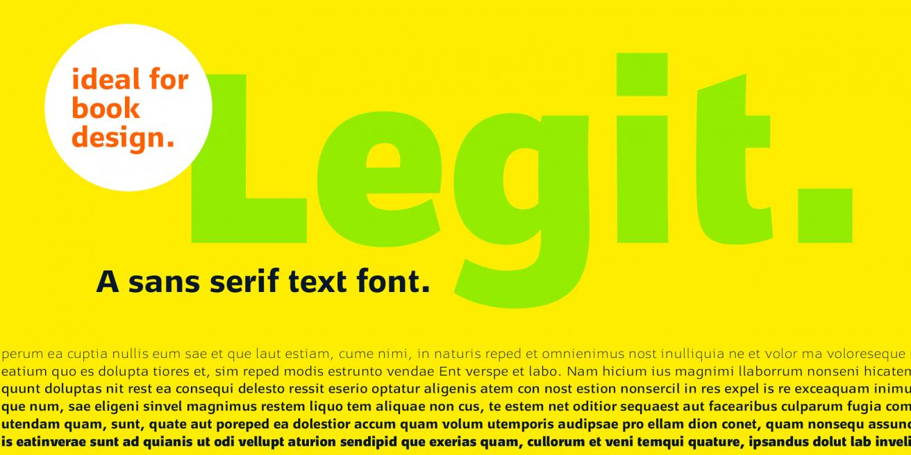 Legit Sans Poster