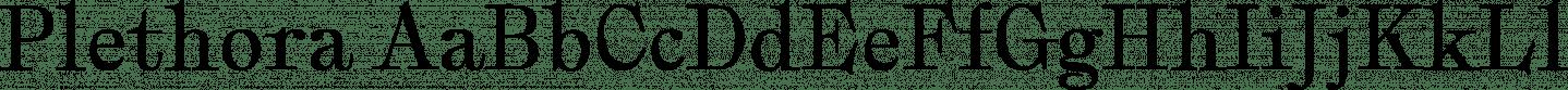 Plethora Sample Text