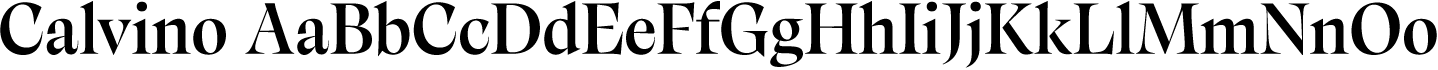 Calvino Sample Text