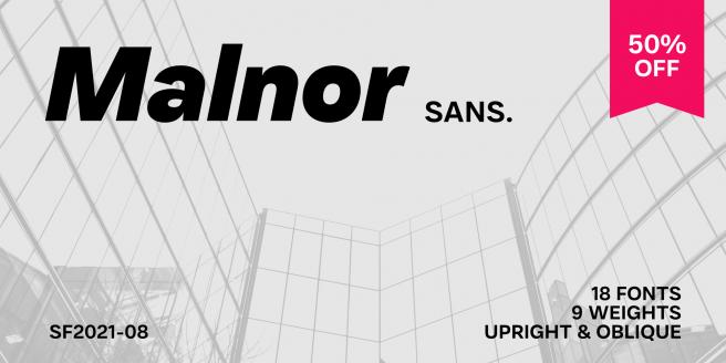 Malnor Sans Poster