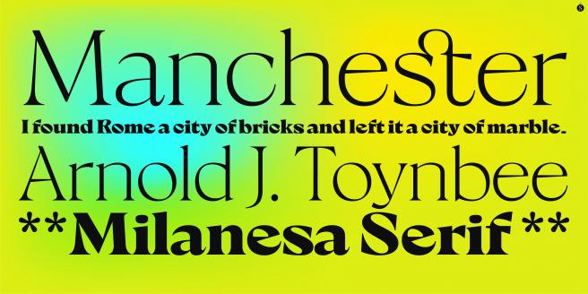 Milanesa Serif Poster2