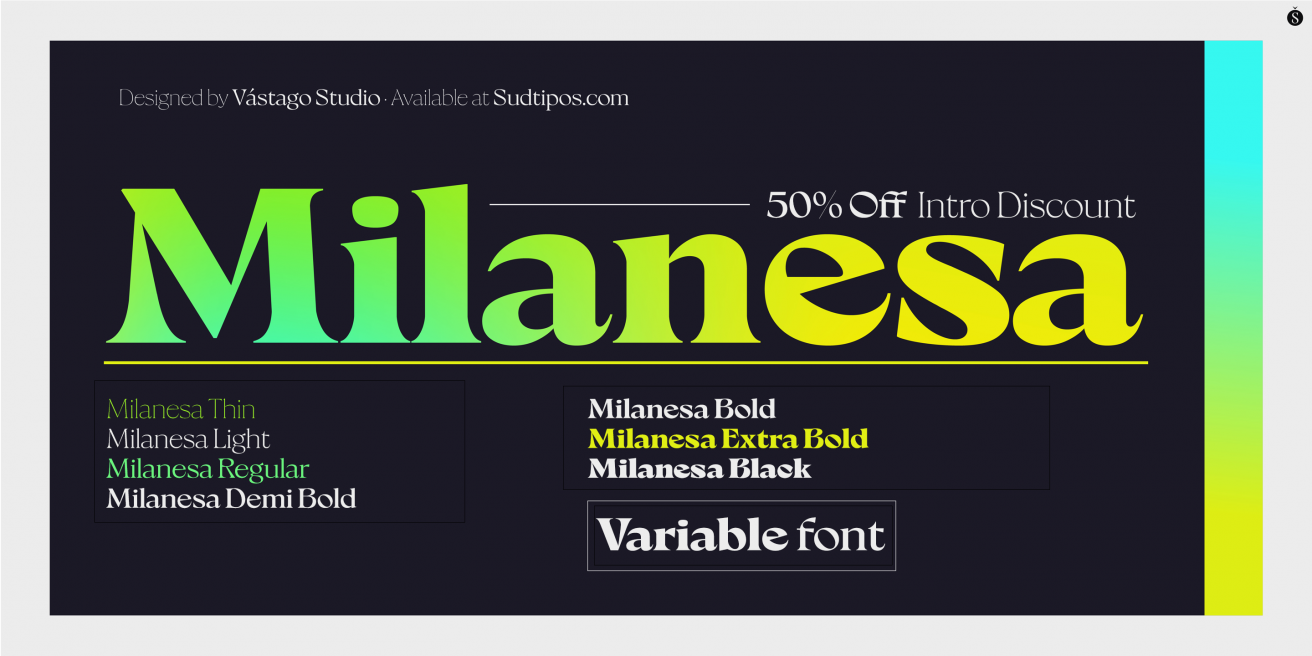 Milanesa Serif Poster