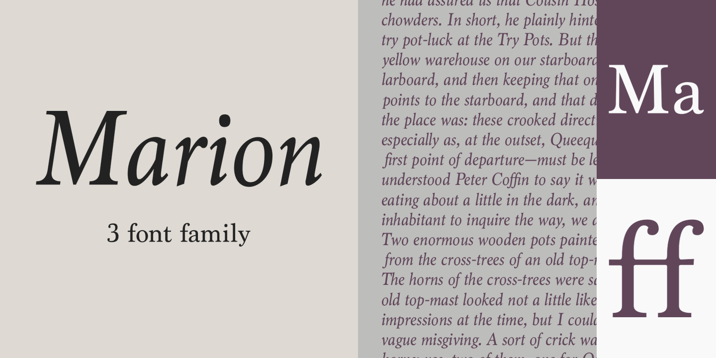 Marion Poster