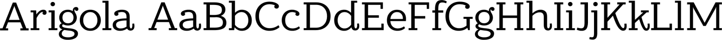 Arigola Sample Text