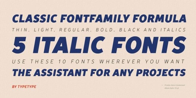 TT Prosto Sans Condensed Poster1
