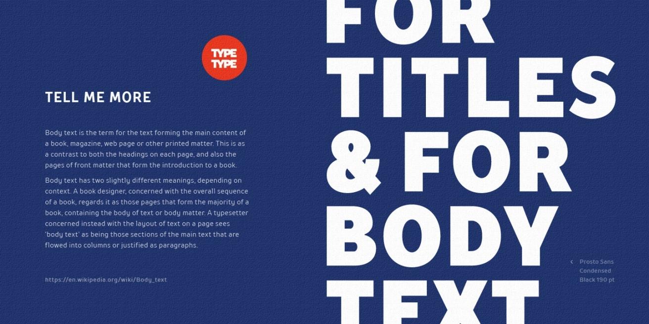 TT Prosto Sans Condensed Poster2
