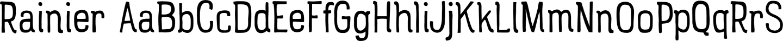Rainier Sample Text