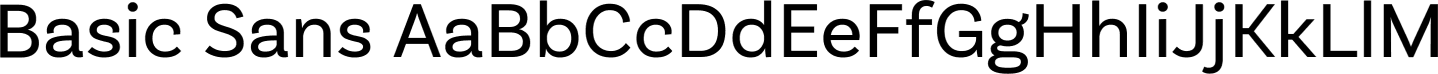 Basic Sans Sample Text