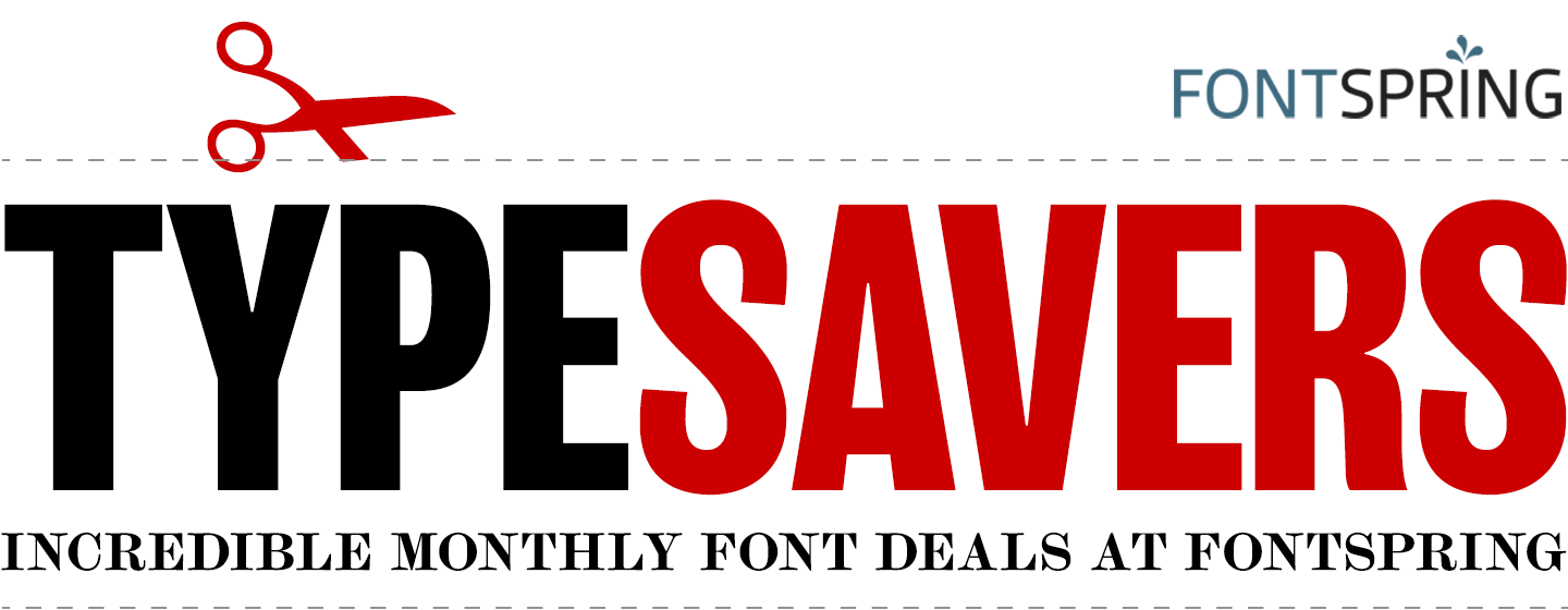 Fontspring: Typesavers Newsletter | November 2017