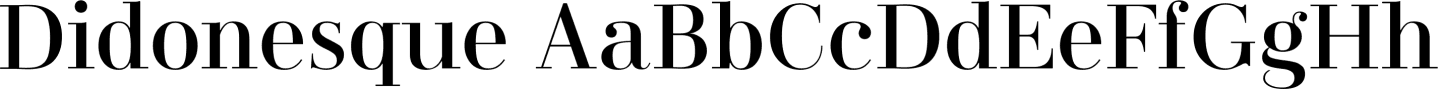 Didonesque Sample Text