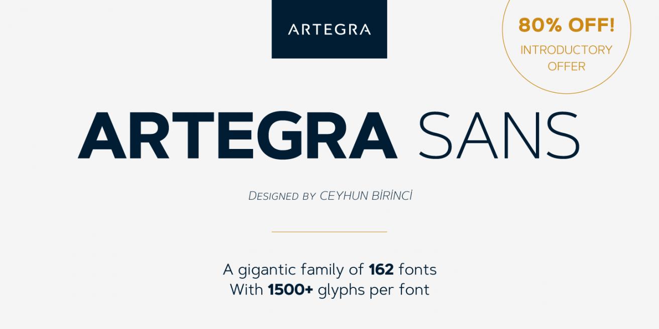 Artegra Sans Poster