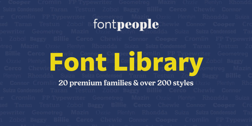 FontPeople Poster