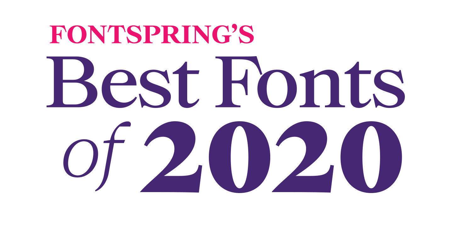 Best Fonts of 2020 Poster